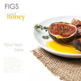 Figs and honey Royalty Free Stock Photography