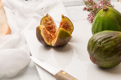 Figs and honey Stock Photos