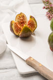 Figs and honey Royalty Free Stock Image