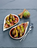 Figs In Wine Stock Image