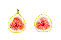 Figs isolated, sliced and fresh Royalty Free Stock Photo
