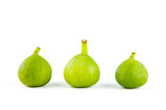Figs isolated, sliced and fresh Stock Images