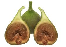 Figs - isolated on white. Fruits of fig - tree isolated on white background Royalty Free Stock Photography