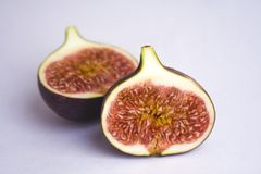 figs isolerade white Arkivfoto