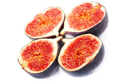 figs isolerade white Arkivfoton