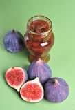 Figs and jam Stock Images