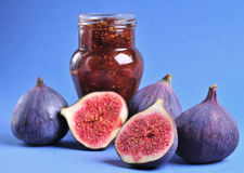 Figs and jam Royalty Free Stock Image