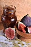 Figs and jar Stock Photo