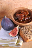 Figs and jar Royalty Free Stock Photos