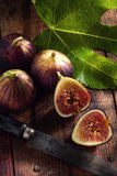 Figs and knife Stock Image