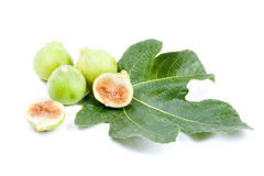 Figs on a leaf Stock Photos