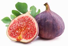 Figs with leaves. Stock Images