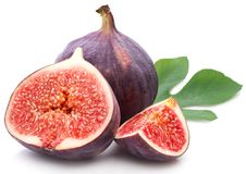 Figs with leaves. Stock Photography