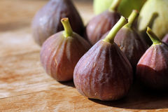 Figs. Little fresh vine figs in perfect maturity stock photo
