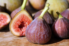 Figs. Little fresh vine figs in perfect maturity royalty free stock photo
