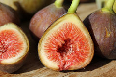 Figs. Little fresh vine figs in perfect maturity royalty free stock images