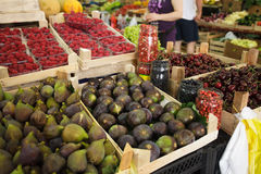 Figs on the market Royalty Free Stock Photo