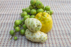 Figs,Noni and Orange Royalty Free Stock Images