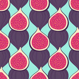 Figs pattern on mint green background. Royalty Free Stock Photos