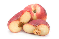 Figs peach fruit on white Royalty Free Stock Photography