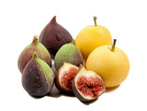 Figs and pears Royalty Free Stock Photos
