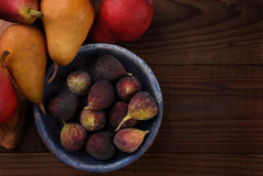 Figs and Pears Stock Images