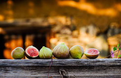 Figs. In a picturesque village in Cyprus stock images