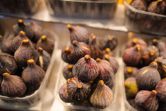 Figs in plastic containers Royalty Free Stock Images