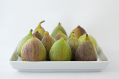 Figs on Plate Stock Photo