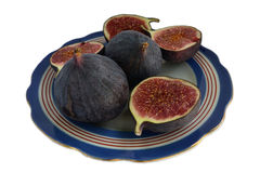 figs on a plate Royalty Free Stock Photography