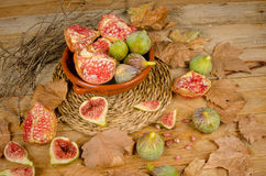 Figs and pomegranates still life Royalty Free Stock Image