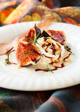 Figs with ricotta Royalty Free Stock Photography