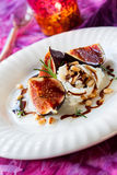Figs with ricotta Stock Photography