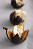 Figs Roasted With Mascarpone Cheese Honey And Hazelnuts Stock Image