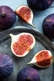 Figs on rustic table Stock Images