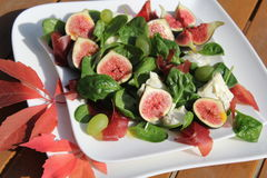 Figs salad Royalty Free Stock Image