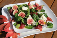 Figs salad Royalty Free Stock Photography