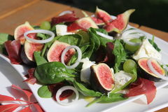 Figs salad Stock Image