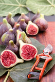 Figs and secateurs Stock Photos