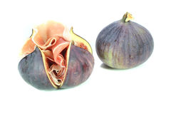 Figs with Serrano ham Royalty Free Stock Images