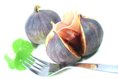 Figs with Serrano ham Stock Image