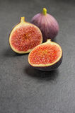 Figs on slate plate Stock Image