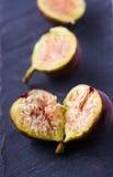 Figs on Slate Stock Image