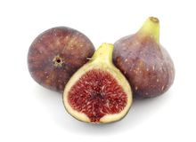 Figs still life. Still life whole figs and half on a white background Stock Photos