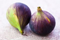 Figs on a stone background Stock Photography