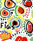 Figs. Symbolic image of fig fruits Stock Photo