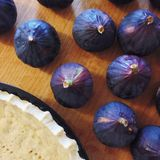 Figs tart preparation Royalty Free Stock Images