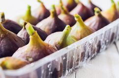 Figs in a tray Stock Images