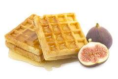 Figs, waffle Royalty Free Stock Photo