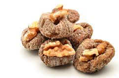 Figs with walnuts Royalty Free Stock Images